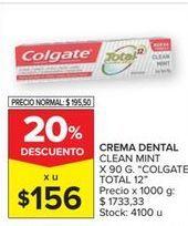 Oferta de Crema dental Colgate por $156