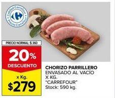 Oferta de Chorizo parrillero Carrefour por $279