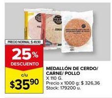 Oferta de Medallón de carne/ cerdo/ pollo por $35,9