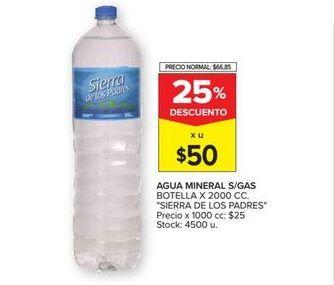 Oferta de Agua mineral sin gas Sierra de los Padres por $50