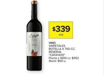 Oferta de Vino Cafayate por $339