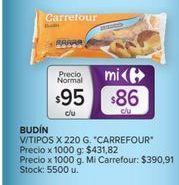 Oferta de Budín Carrefour por $95