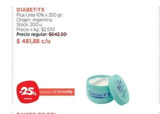 Oferta de DIABET-TX  Plus Urea 10% x 250 gr. por $481,88