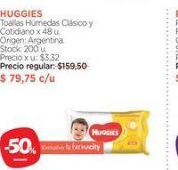 Oferta de HUGGIESToallas Húmedas Clásico y Cotidiano x 48 u. por $79,75