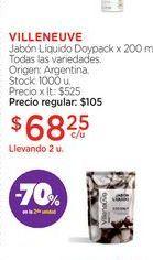 Oferta de VILLENEUVEJabón Líquido Doypack x 200 ml. por $68,25