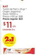Oferta de NATTurrón de Maní x 25 gr. por $11