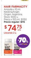 Oferta de HAIR FARMACITY	Ampolla x 10 ml. por $74,75
