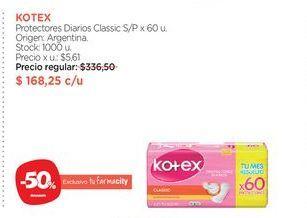 Oferta de KOTEXProtectores Diarios Classic S/P x 60 u. por $168,25