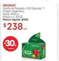 Oferta de GEONATAceite de Pescado x 30 Cápsulas. por $238