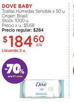 Oferta de DOVE BABYToallas Húmedas Sensible x 50 u. por $184,6