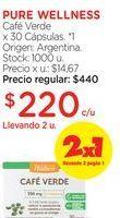 Oferta de PURE WELLNESSCafé Verde x 30 Cápsulas. por $220