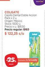 Oferta de COLGATECepillo Dental Doble Accion Pack x 2 u. por $122,25
