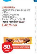 Oferta de VAUQUITABarra Rellena Dulce de Leche x 35 gr. por $42,75