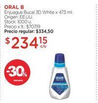 Oferta de ORAL BEnjuague Bucal 3D White x 473 ml. por $234,15