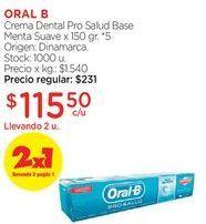 Oferta de ORAL BCrema Dental Pro Salud Base Menta Suave x 150 gr. por $115,5