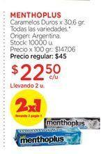 Oferta de MENTHOPLUSCaramelos Duros x 30,6 gr. por $22,5