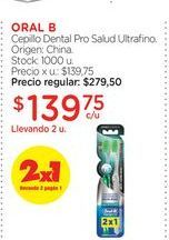 Oferta de ORAL BCepillo Dental Pro Salud Ultrafino. por $139,75