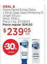 Oferta de ORAL BCrema Dental Encías Detox x 102 gr. por $239,05