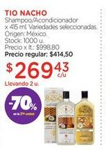 Oferta de TIO NACHO Shampoo/Acondicionador x 415 ml. por $269,43