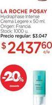 Oferta de LA ROCHE POSAYHydraphase Intense Crema Legere x 50 ml. por $2437,6