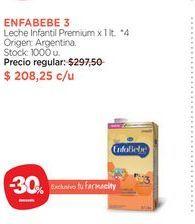 Oferta de ENFABEBE 3Leche Infantil Premium x 1 lt. por $208,25