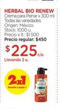 Oferta de HERBAL BIO RENEW	Crema para Peinar x 300 ml. por $225