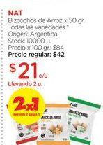 Oferta de NATBizcochos de Arroz x 50 gr. por $21