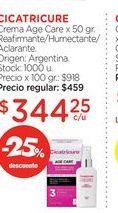 Oferta de CICATRICURECrema Age Care x 50 gr. por $344,25