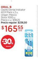 Oferta de ORAL BCepillo Dental Indicator 40 M Pack x 2 u. por $165,55