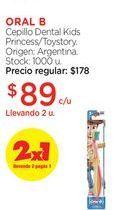 Oferta de ORAL BCepillo Dental Kids Princess/Toystory. por $89