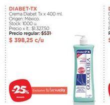 Oferta de DIABET-TXCrema Diabet Tx x 400 ml. por $398,25