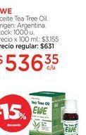 Oferta de EWEAceite Tea Tree Oil. por $536,35