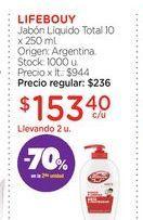 Oferta de LIFEBOUYJabón Líquido Total 10 x 250 ml. por $153,4