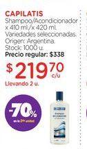 Oferta de CAPILATISShampoo/Acondicionador x 410 ml./x 420 ml. por $219,7