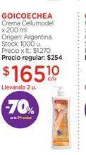 Oferta de GOICOECHEACrema Cellumodel x 200 ml. por $165,1