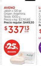 Oferta de AVENOJabón x 120 gr. por $337,13