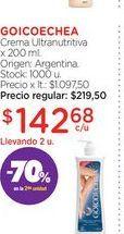 Oferta de GOICOECHEACrema Ultranutritiva x 200 ml. por $142,68