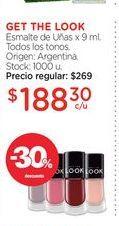 Oferta de GET THE LOOKEsmalte de Uñas x 9 ml. por $188,3