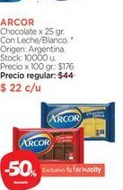 Oferta de ARCOR	Chocolate x 25 gr. por $22