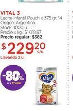 Oferta de VITAL 3Leche Infantil Pouch x 375 gr. por $229,2