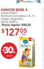 Oferta de SANCOR BEBE 4Leche Infantil Nutrición Completa x 1 lt. por $127,05