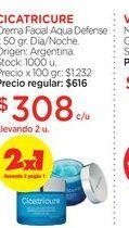 Oferta de CICATRICURECrema Facial Aqua Defense x 50 gr. por $308