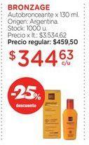Oferta de BRONZAGEAutobronceante x 130 ml. por $344,63