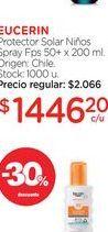 Oferta de EUCERINProtector Solar Niños Spray Fps 50+ x 200 ml. por $1446,2