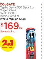 Oferta de COLGATECepillo Dental 360 Black 2 u. por $169