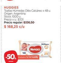 Oferta de HUGGIESToallas Húmedas Oléo Calcáreo x 48 u. por $168,25