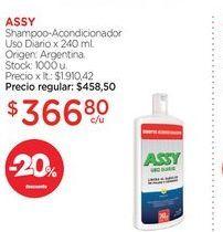 Oferta de ASSYShampoo-Acondicionador Uso Diario x 240 ml. por $366,8