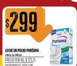 Oferta de Leche en polvo Purísima por $299