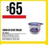 Oferta de Crema de leche Tregar 200grs  por $65