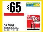 Oferta de Pilas Eveready 2un por $65